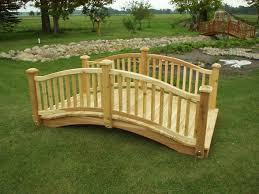 Build Wood Garden Bench by How To Build Wooden Bridge Cedar Bridge Shop Com Garden Bridges