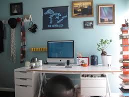 Home Office Wall Decor Ideas Furniture Foxy Image Of Home Office Decoration Using Light Blue