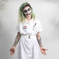 Joker Nurse Costume Halloween Shop Horrors Costumery Joker Nurse Costume Shop