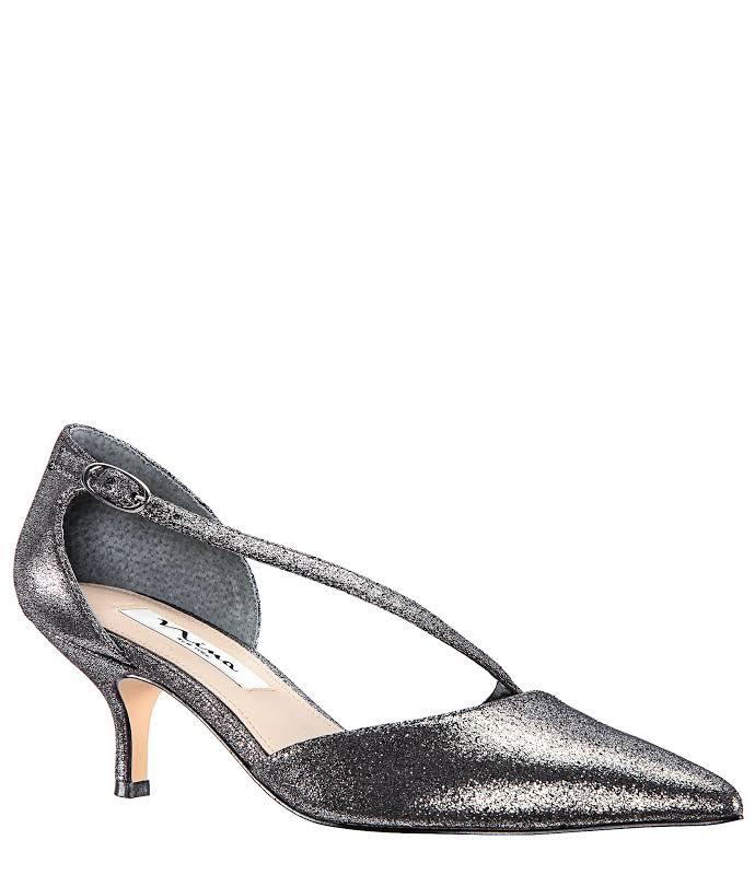 Nina Tirisa Pointed Toe D-orsay Pumps, Silver,