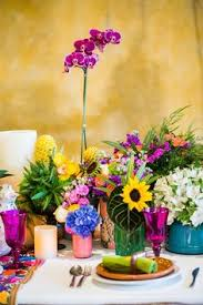 Rainbow Wedding Centerpieces by Centerpieces Wedding Reception Gold Vase Pink Orange Lime