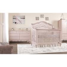 White Convertable Crib by Evolur Aurora Wooden 5 In 1 Convertible Crib Blush Pink Pearl