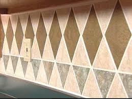 Tiling A Kitchen Backsplash Install A Tile Wallpaper Backsplash Hgtv