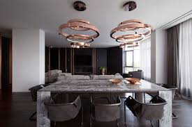 Marble Aesthetic A Family U0027s Kiev Apartment Is Filled With Copper Marble And A