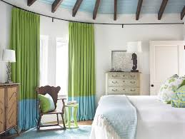 custom curtain rods with angled window family room beach style and