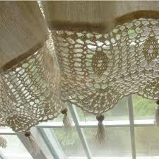country lace crochet window curtain blackout drape panel decor tab