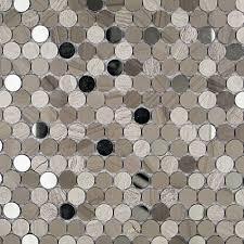reflection athens gray u0026 wooden beige u0026 mirror penny round tile