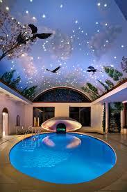 In Door Pool by Fantasy Indoor Swimming Pool With Sky Mural Roof And Ceramic Floor