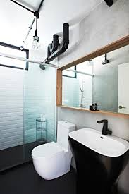 i love this bathroom but what i like most are the black and white