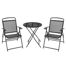 Black Wrought Iron Patio Furniture Sets by Amazon Com Best Choiceproducts 3 Piece Patio Bistro Set Outdoor