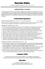 Sample Resumes For Professionals by Administrative Assistant Resume Example Sample