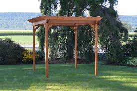 Small Pergola Kits by Red Cedar Pergola From Dutchcrafters Amish Furniture
