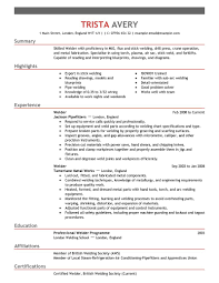 Sample Welder Resume Examples   customer service skills examples for resume