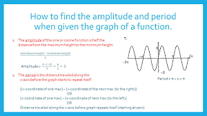 graphing sine cosine functions section 5 4 how to find the