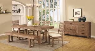 coaster elmwood rustic table and chair set with dining bench coaster elmwood rustic table and chair set with dining bench coaster fine furniture