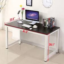 Home Office Furniture Amazon Com Black Wood Computer Desk Pc Laptop Table Workstation