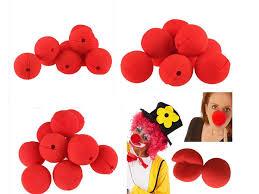 best 2015 red sponge foam ball clip circus clown nose comic