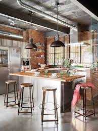 kitchen decorating industrial style homes industrial themed