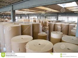 Warehouse paper and cardoboard in paper mill Royalty Free Stock