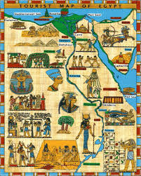Map Egypt Tourist Map Of Egypt Canvas