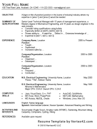 Relevant Professional Experience Executive Resume Format Of The       Best Resume