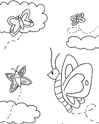 butterfly coloring pages with flowers flower coloring pages of