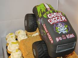 grave digger monster truck song tj happy cakes grave digger monster truck cupcake jump