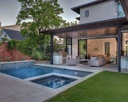 Contemporary Backyard Open Patio Small Pool Valle Pinterest - Contemporary backyard design ideas