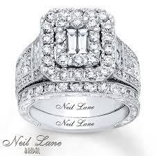 neil lane engagement rings jared neil lane bridal set 3 1 4 ct tw diamonds 14k white gold