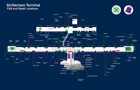 Map Of Detroit Metro Airport by Detroit Airport Food Map Adriftskateshop