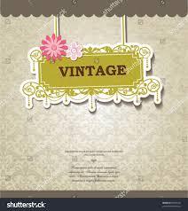 Card Invitation Vintage Card Design Greeting Card Invitation Stock Vector 80505301
