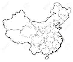 Map Of China Provinces Political Map Of China With The Several Provinces Where Shanghai