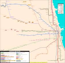 Chicago Line Map by Chicago Rail Transit Map