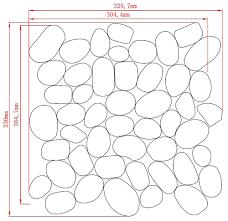 silver cream white oak pebbles flat finish mesh mosaic tile