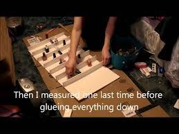 diy 2 nail polish rack youtube