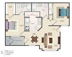 2 bedroom 2 bath plan c floor plan 820 rent 250 deposit