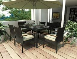 Black Wicker Patio Furniture Sets - furniture round mocha granite dining table top with black legs