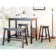safavieh ronin 4 piece espresso bar table set amh8503a the home ronin 4 piece espresso bar table set