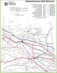 Canada Rail Map by Saskatchewan Rail Map