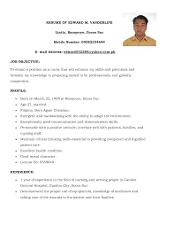 Sample Resume For Overseas Jobs by Resume For Nurses Applying Abroad Free Resume Example And