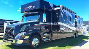 extreme rv 45 foot super c garage unit u0026 renegade trailer youtube
