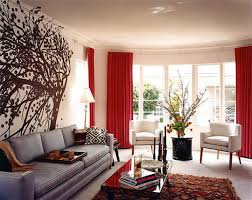 curtains home decor decoration terrific contemporary red wall room ideas with white
