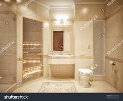 luxurious bathroom interior design classic style stock