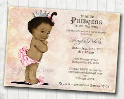 african american baby shower invitation for princess