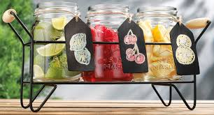 Glass Canisters For Kitchen Dining Room Mason Jar Flatware Caddy For Kitchen Accessories Ideas