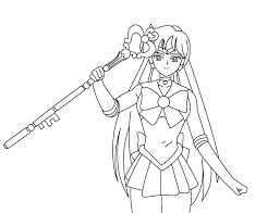 sailor pluto coloring pages bucket user bebo pandco