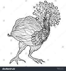 emu ostrich coloring printable vector stock vector 367988231