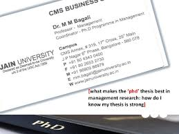 PhD in Management  HR  HRM  HRD       phd      thesis best in management rese    SlideShare