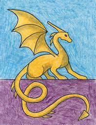 sitting dragon art projects kids