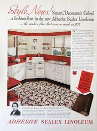 1937 sealex adhesive linoleum smart decorator u0027s colors